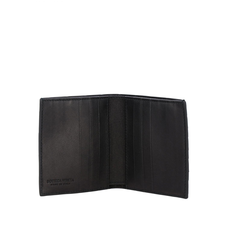 Portafoglio Bottega Veneta in pelle intrecciata nero 2
