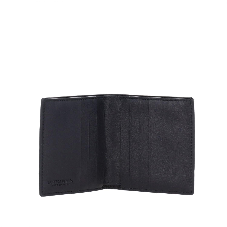 Bottega Veneta Geldbörse aus geflochtenem Leder blau 2