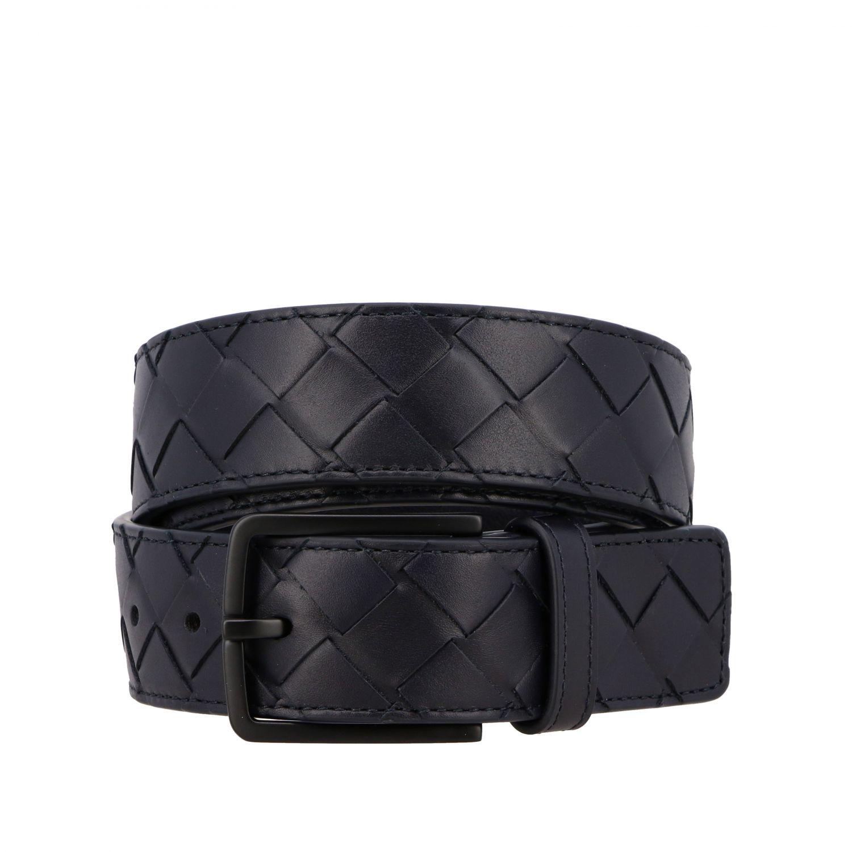 Cintura Bottega Veneta in pelle intrecciata blue 1