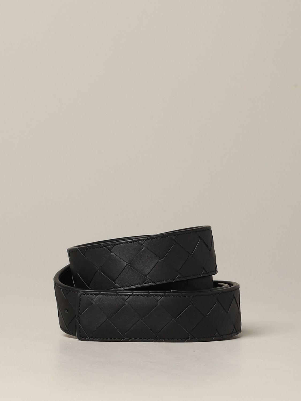 Bottega Veneta Gürtel aus gewebtem Leder schwarz 1