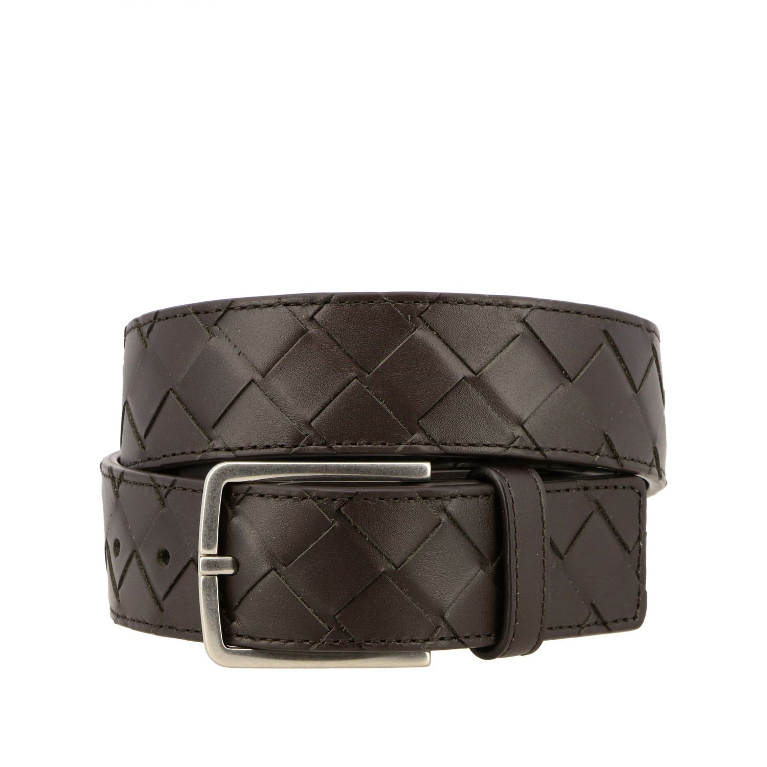 Belt Bottega Veneta: Bottega Veneta belt in woven leather brown 1