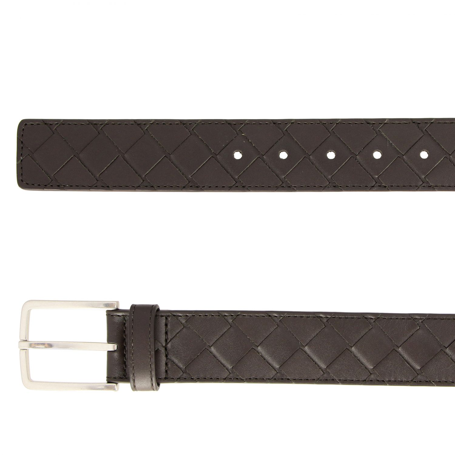 Belt Bottega Veneta: Bottega Veneta belt in woven leather brown 2