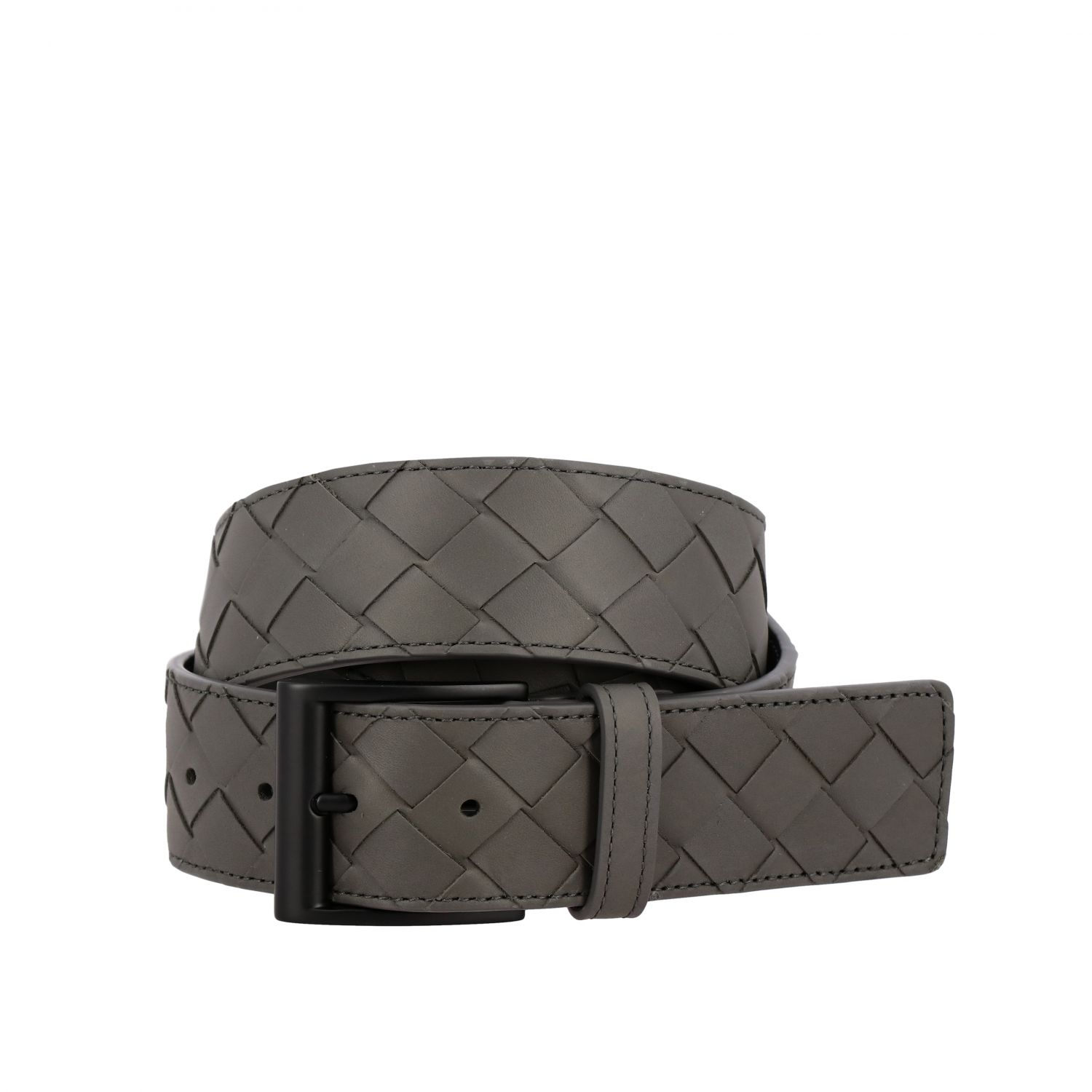 Belt Bottega Veneta: Bottega Veneta belt in woven leather grey 1