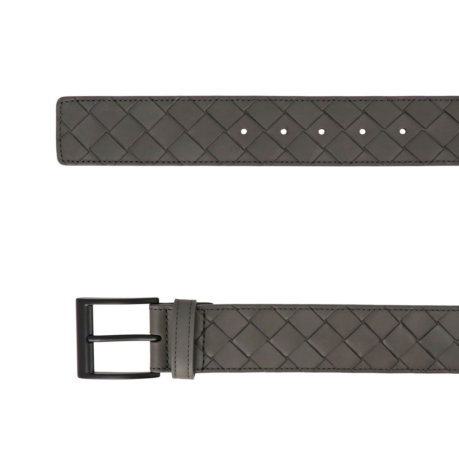 Belt Bottega Veneta: Bottega Veneta belt in woven leather grey 2