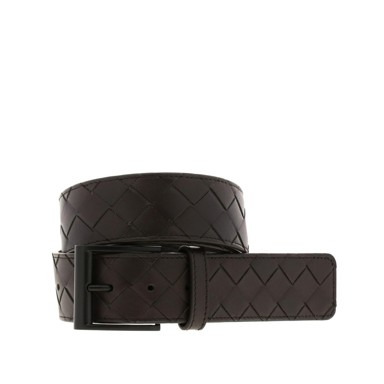 Cintura Bottega Veneta in pelle intrecciata moro 1
