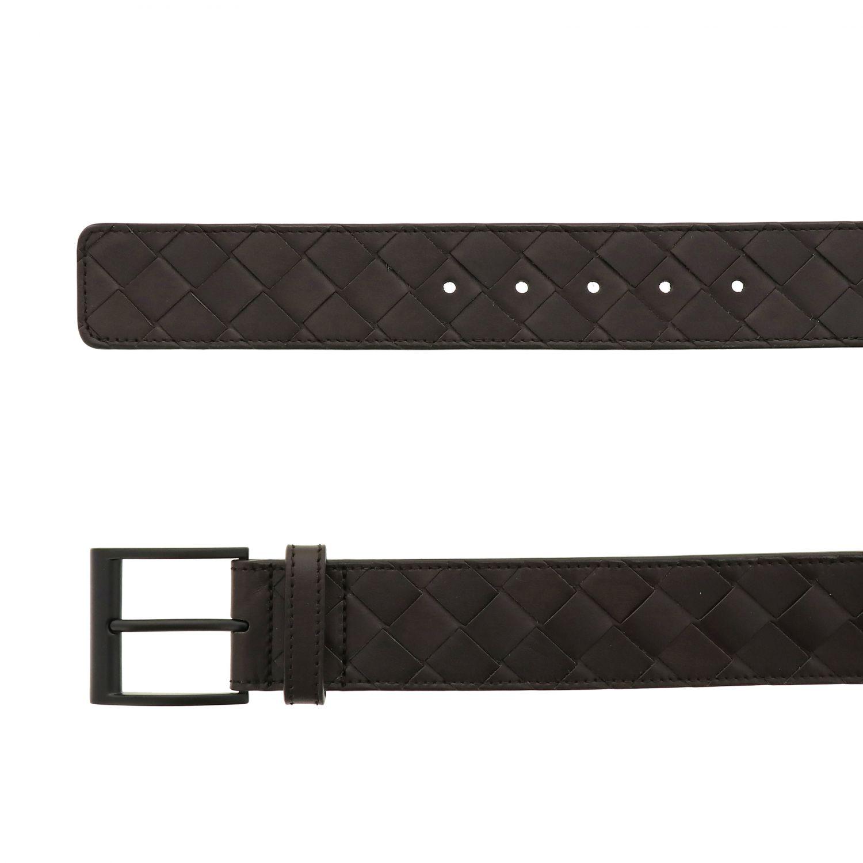 Cintura Bottega Veneta in pelle intrecciata moro 2