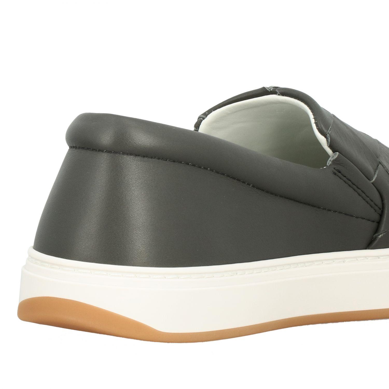 Sneakers Bottega Veneta: Bottega Veneta leather slip on sneakers with maxi weave grey 5