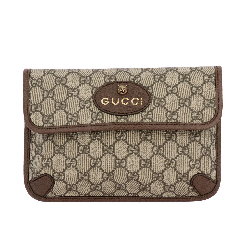 Gucci Neo vintage de cuero GG Supreme bolso con tigre beige 1