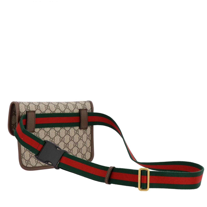 Gucci Neo vintage de cuero GG Supreme bolso con tigre beige 2
