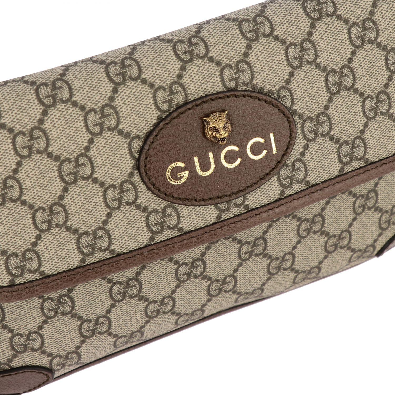 Gucci Neo vintage de cuero GG Supreme bolso con tigre beige 3