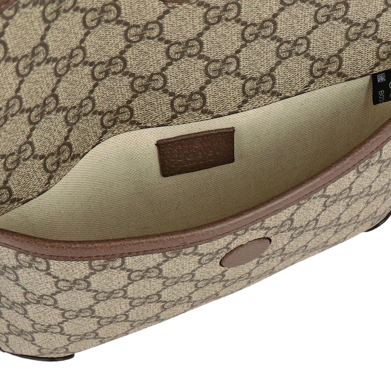 Gucci Neo vintage de cuero GG Supreme bolso con tigre beige 4