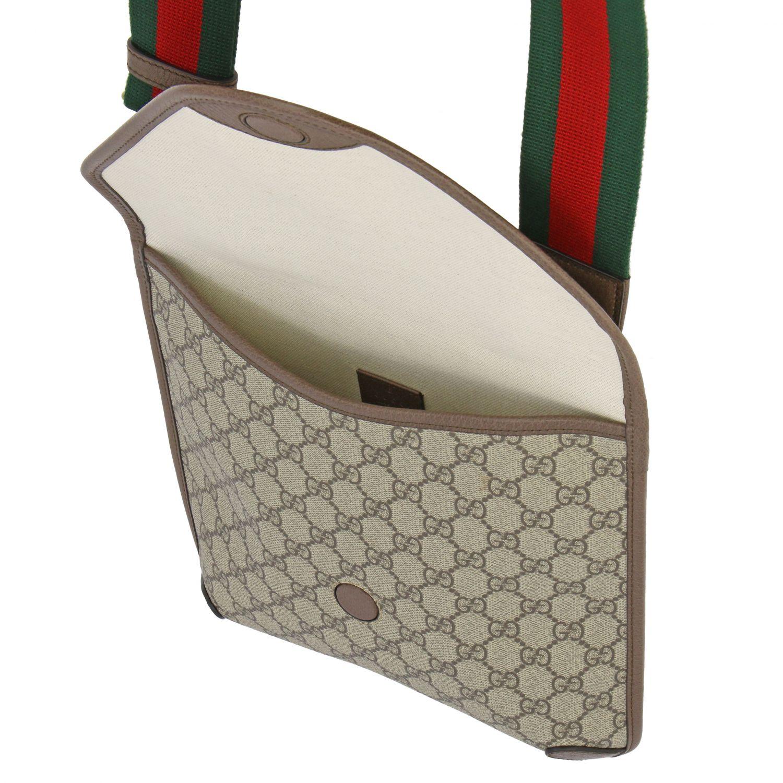 Borsello Neo vintage Gucci in pelle GG Supreme beige 4