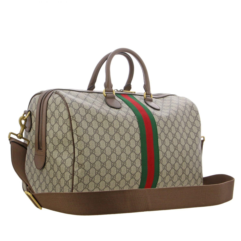 Портфель из кожи с логотипом Мужское Gucci бежевый 2