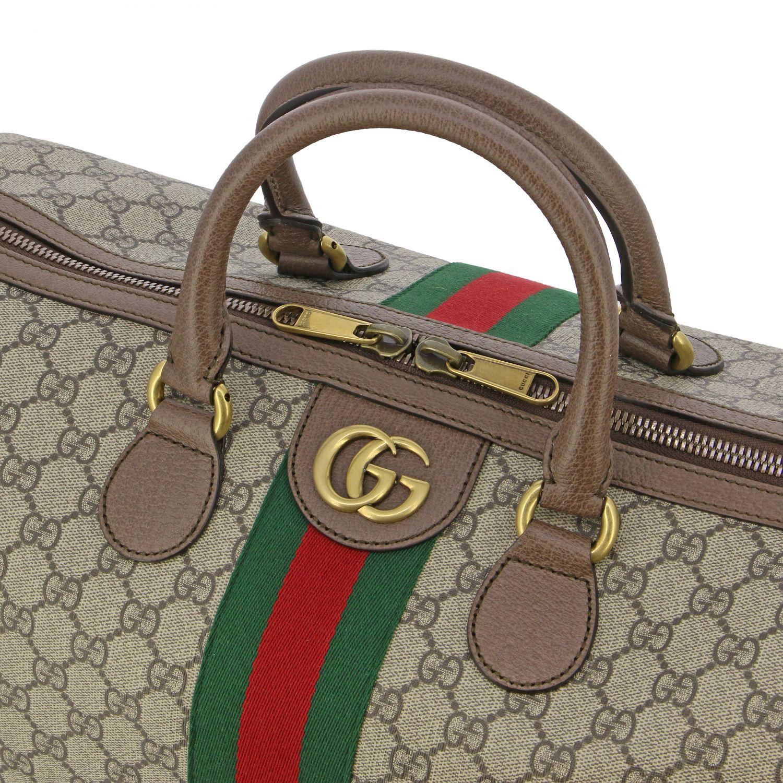 Портфель из кожи с логотипом Мужское Gucci бежевый 3