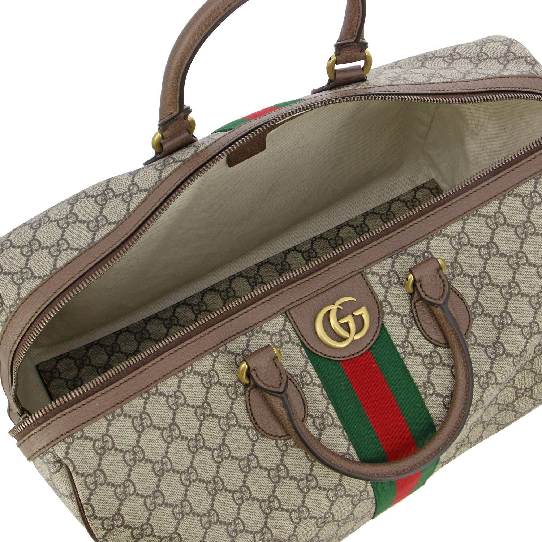 Портфель из кожи с логотипом Мужское Gucci бежевый 4