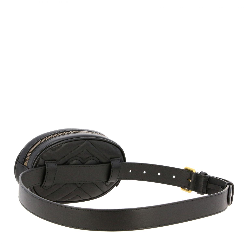 Marsupio GG Marmont Gucci in pelle chevron nero 2