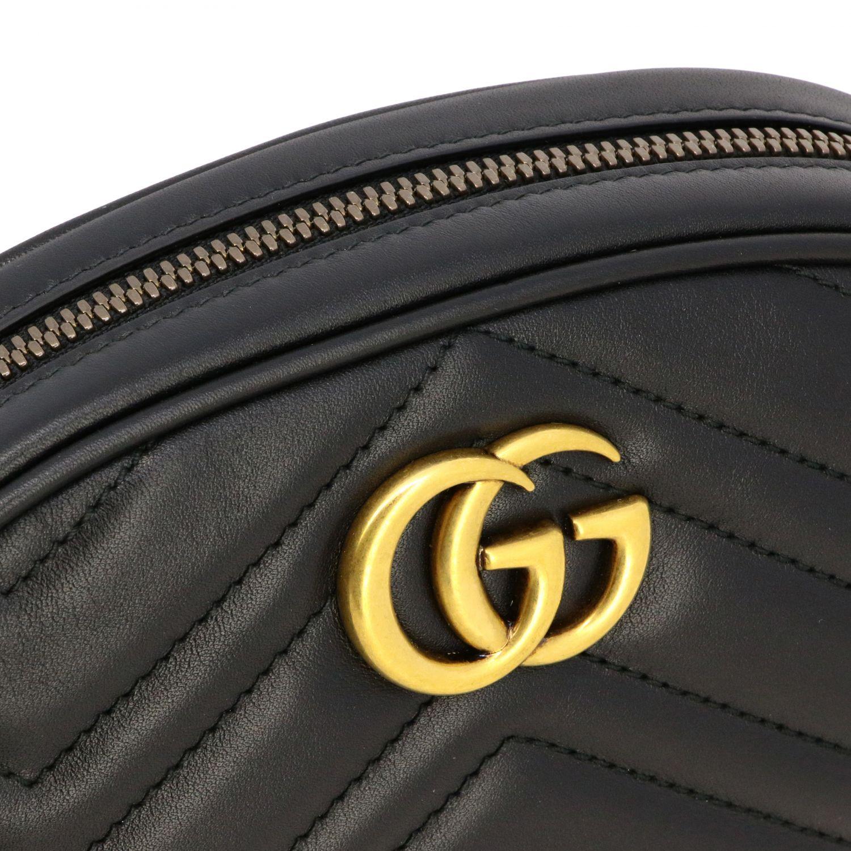 Marsupio GG Marmont Gucci in pelle chevron nero 3