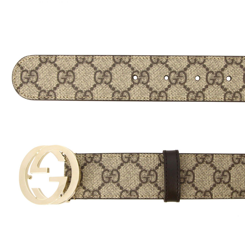 Cintura Gucci in pelle GG Supreme con fibbia GG beige 2