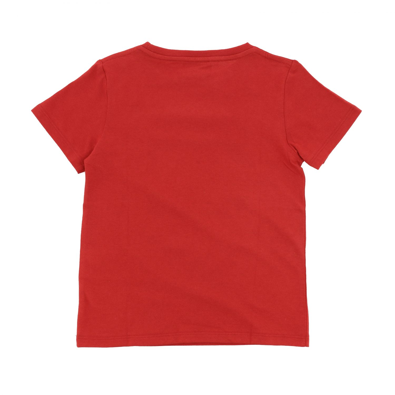T-shirt Gucci: T-shirt Gucci a maniche corte con stampa logo rosso 2