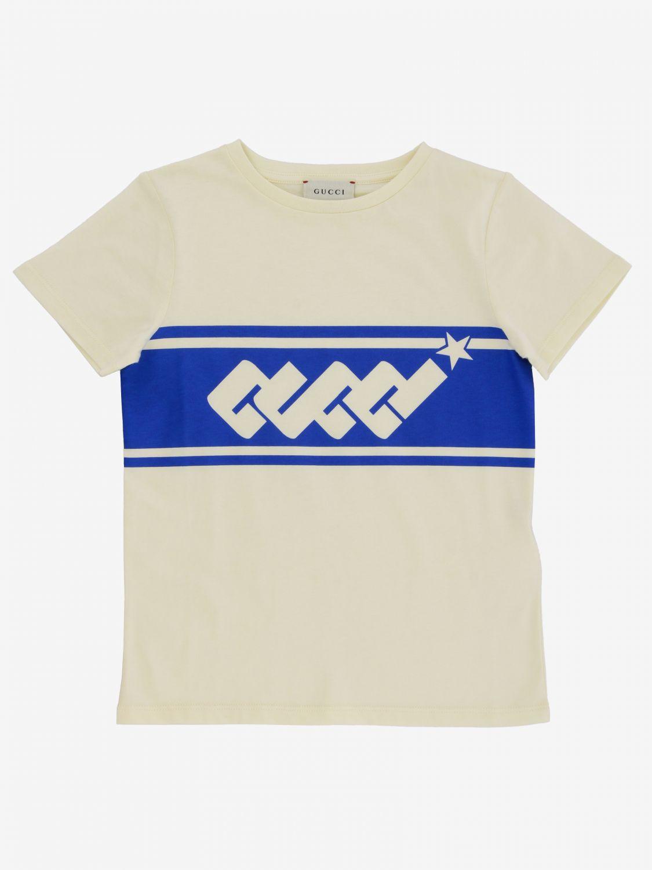 T-shirt Gucci: T-shirt Gucci con stampa logo bianco 1 1