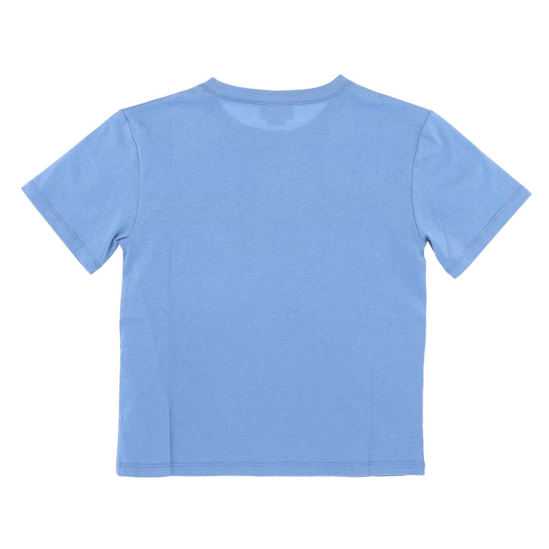 T-shirt Gucci: T-shirt Gucci a maniche corte con stampa Gucci nodi azzurro 2