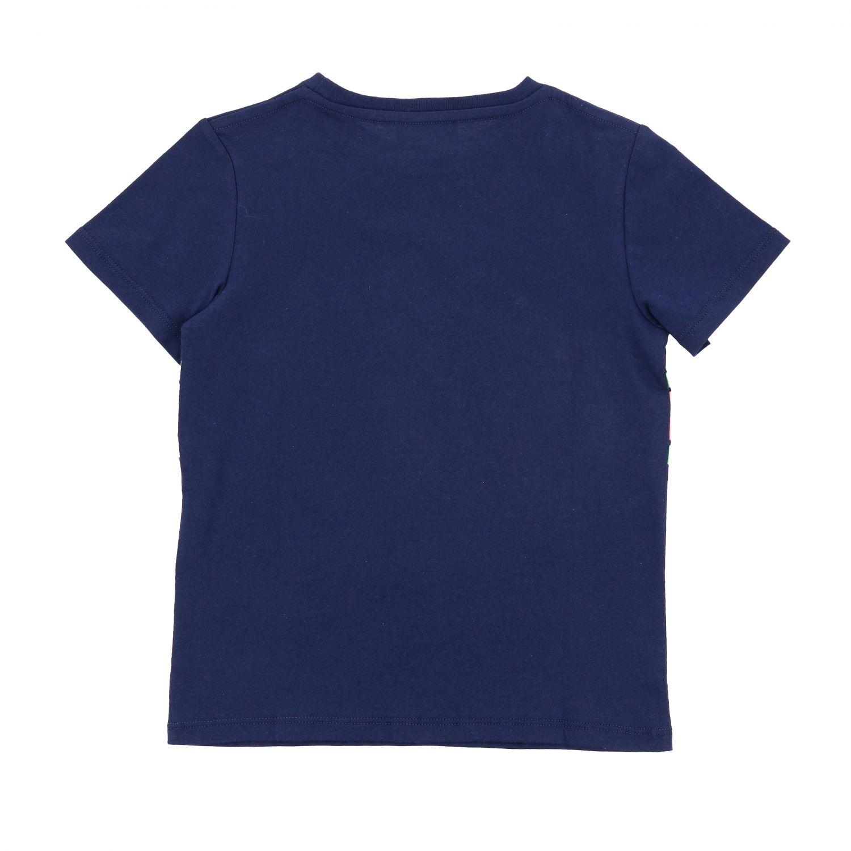 T-shirt Gucci: T-shirt Gucci a maniche corte con stampa Gucci nodi blue 2
