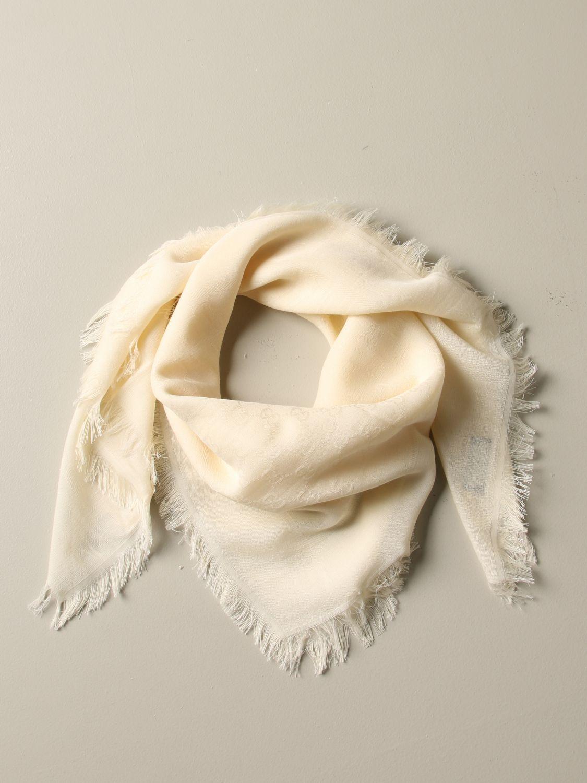 Gucci 基本款头巾围巾 白色 2