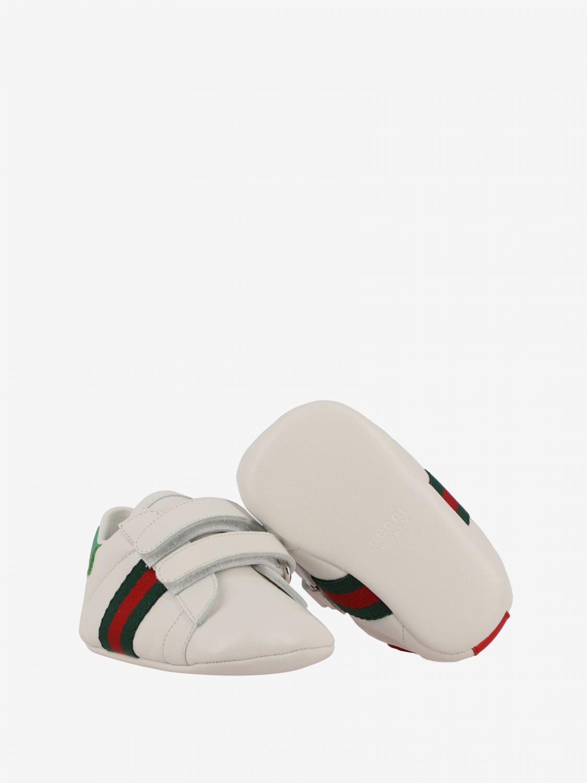 Gucci 真皮Web条带运动鞋 白色 2
