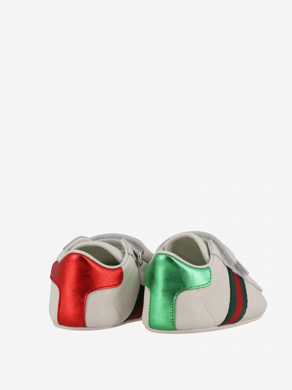 Gucci 真皮Web条带运动鞋 白色 5