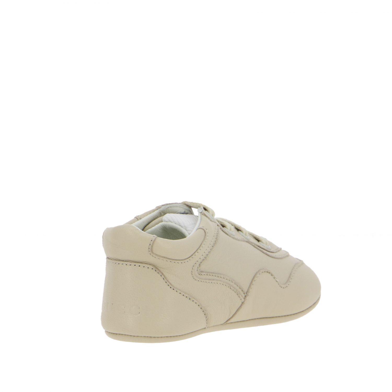 Chaussures Gucci: Sneakers Gucci Baby Rythm en cuir avec logo brodé blanc 5