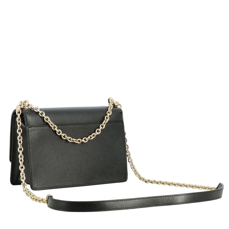 Ares Furla shoulder bag in textured leather black 3