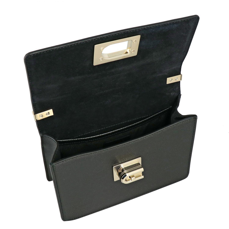 Ares Furla shoulder bag in textured leather black 5