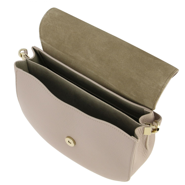 Furla 捶打皮手袋 粉色 5