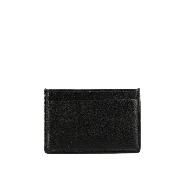 Porta carte di credito Miu Miu in pelle matelassé nero 2