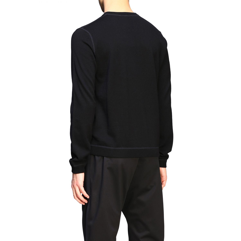 Maglia Prada: Maglia Prada a girocollo in lana con logo nero 3