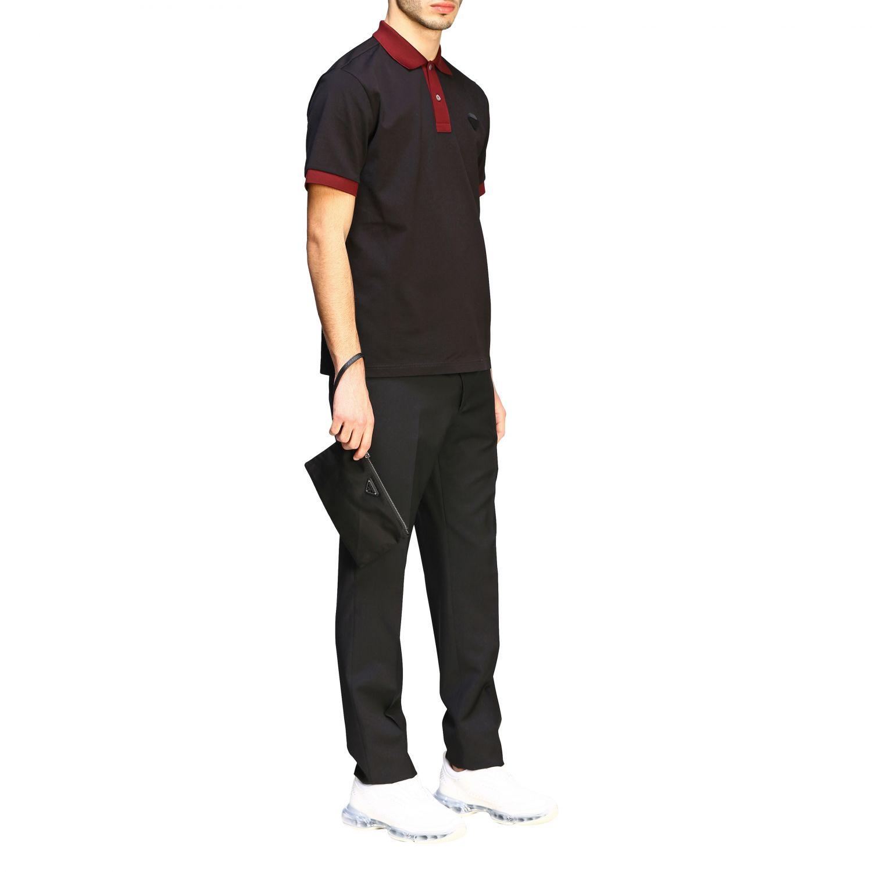 Сумка из нейлона и кожи с треугольным логотипом Мужское Prada черный 2