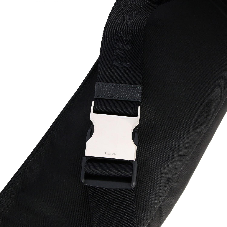 Marsupio Prada in nylon con logo triangolare nero 4