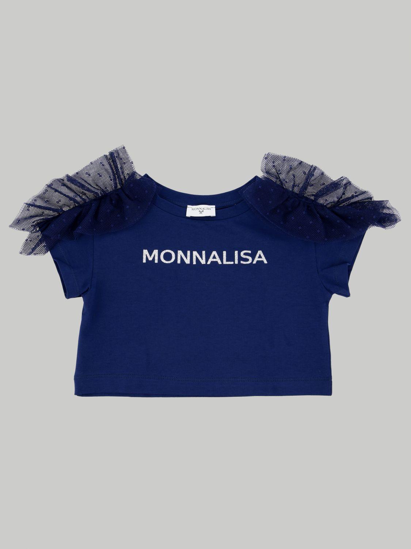 T-shirt enfant Monnalisa bleu 1