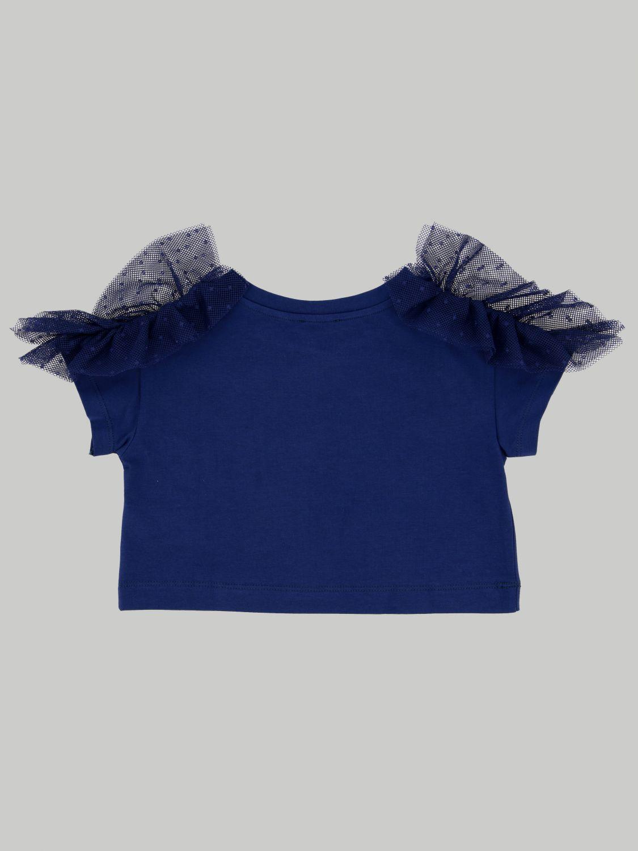 T-shirt enfant Monnalisa bleu 2