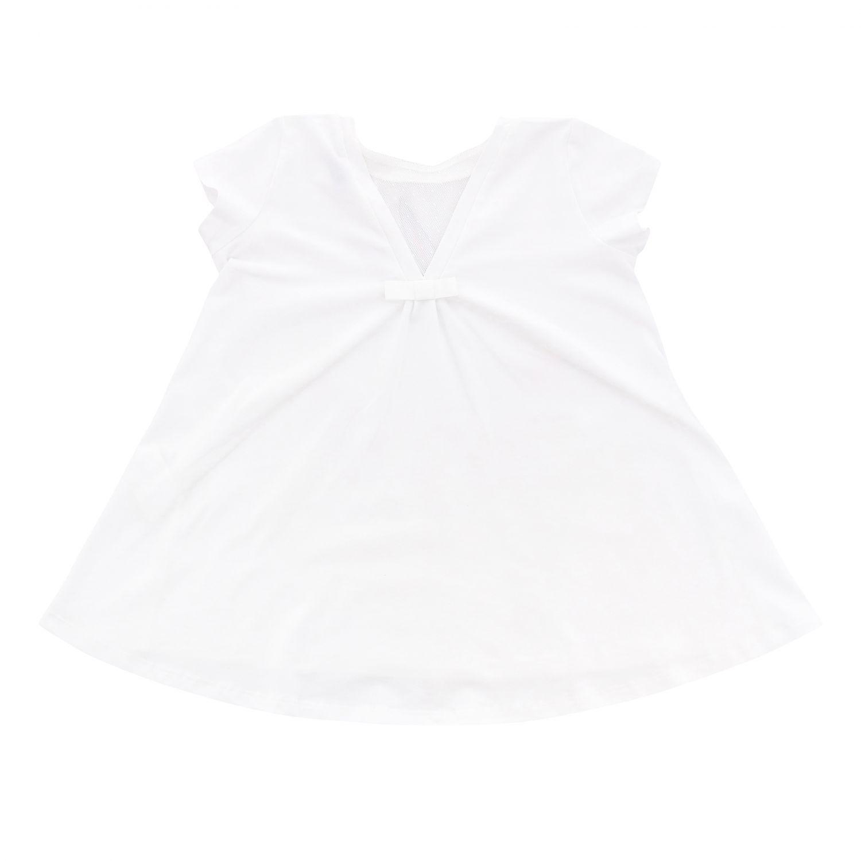 T-shirt à manches courtes Monnalisa avec imprimé bugs bunny et strass blanc 2