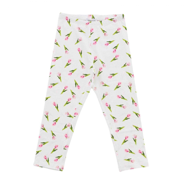 Pantalón niños Monnalisa blanco 1