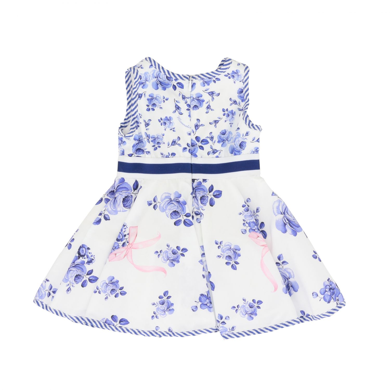 Monnalisa Bebe Kleid Aus Baumwolle Mit Blumen Muster Kleid Monnalisa Bebe Kinder Weiss Kleid Monnalisa Bebe 315906 5623 Giglio De