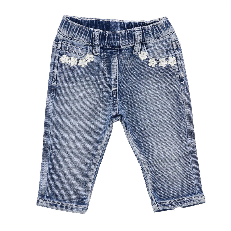 Monnalisa Bebè 做旧效果牛仔裤 牛仔布 1