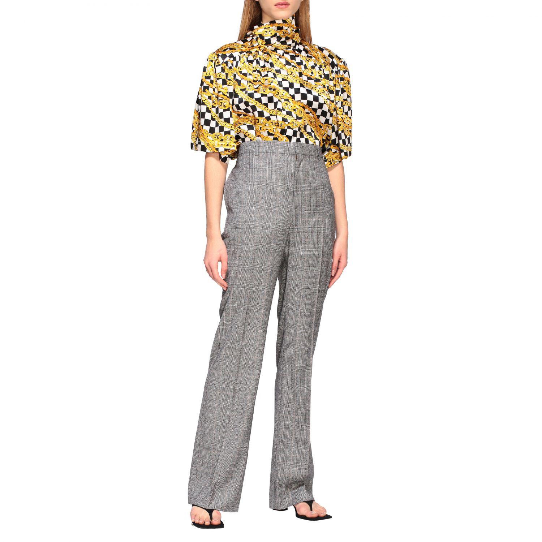 Anzug Balenciaga: Balenciaga Hose aus Wolle grau 2