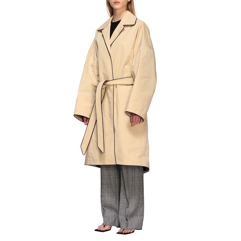 Coat Balenciaga: Coat women Balenciaga beige 4