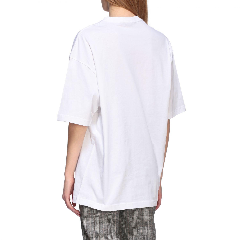 T-shirt Balenciaga over a girocollo con logo copyright bianco 3