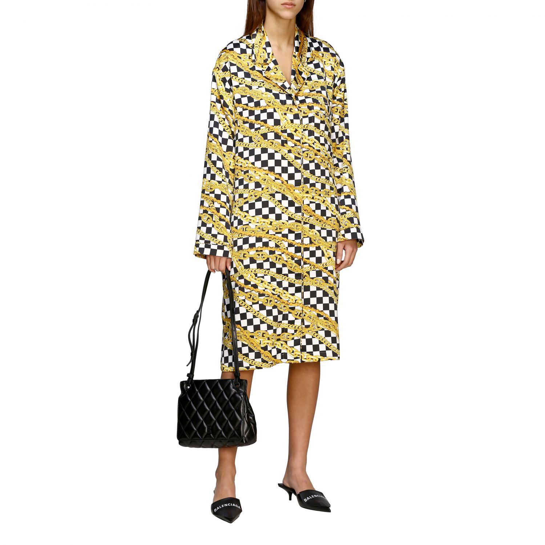 Balenciaga B shoulder Quilted 纳帕革绗缝手袋 黑色 2