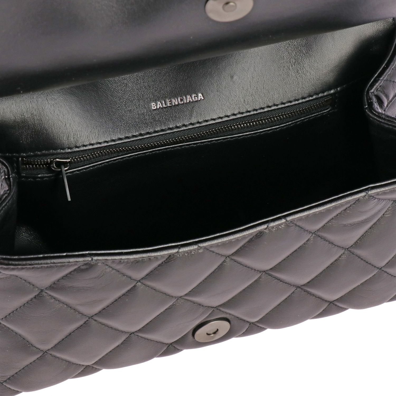 Balenciaga B shoulder Quilted 纳帕革绗缝手袋 黑色 5