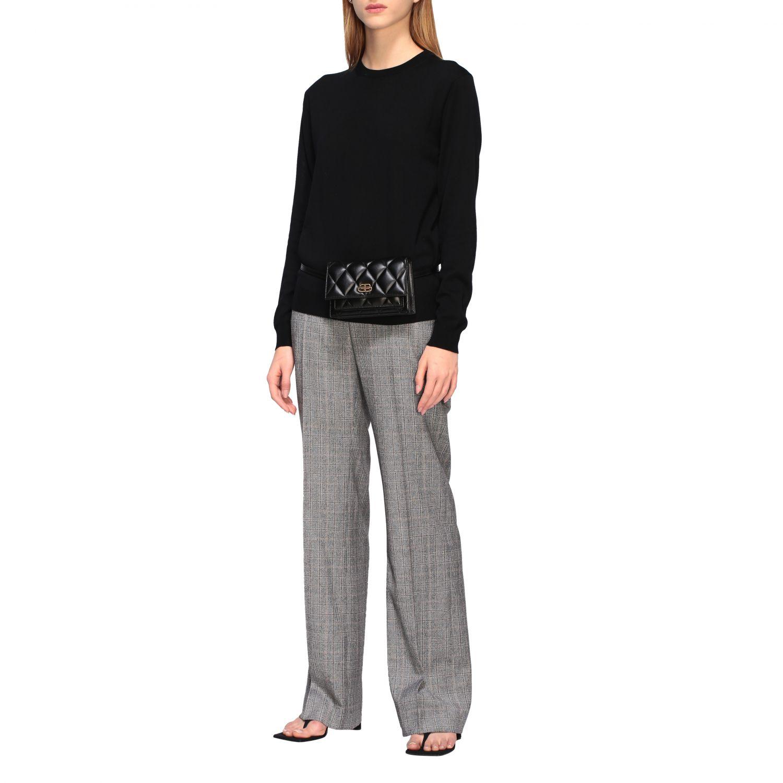 Balenciaga B Quilted 纳帕革绗缝手袋 黑色 2