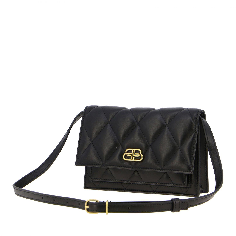 Balenciaga B Quilted 纳帕革绗缝手袋 黑色 4